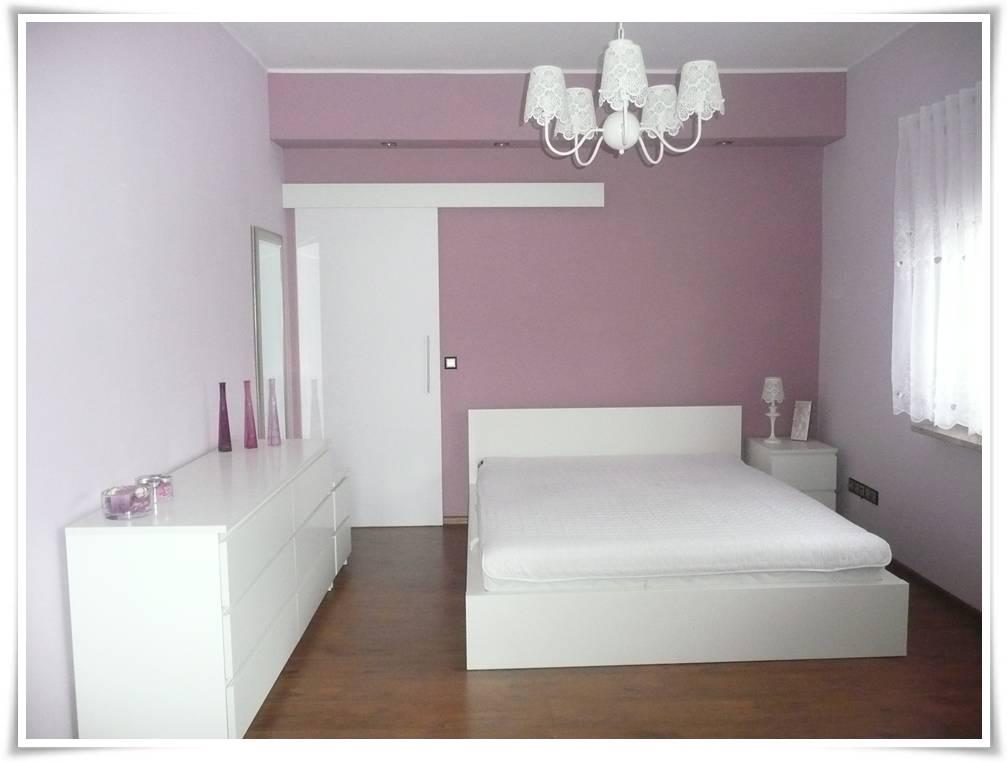 Sypialnia bez okleiny meblowej deKEA