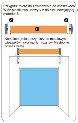 Rolety mini deKEA - montaż