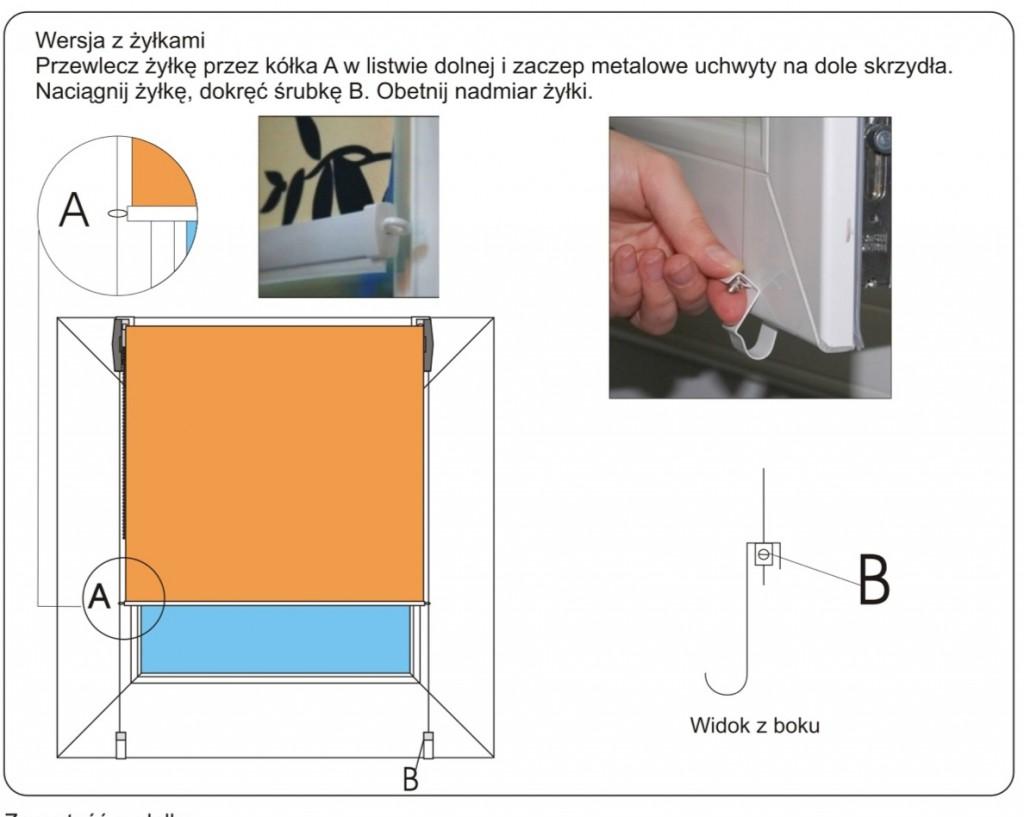 Roleta mini deKEA -montaż
