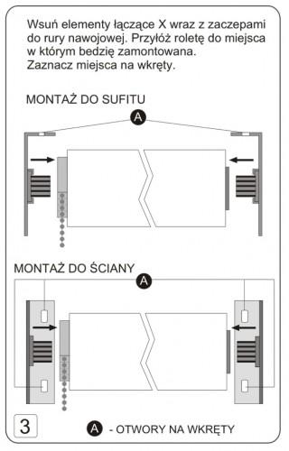 Instrukcja montazu rolety klasycznej deKEA