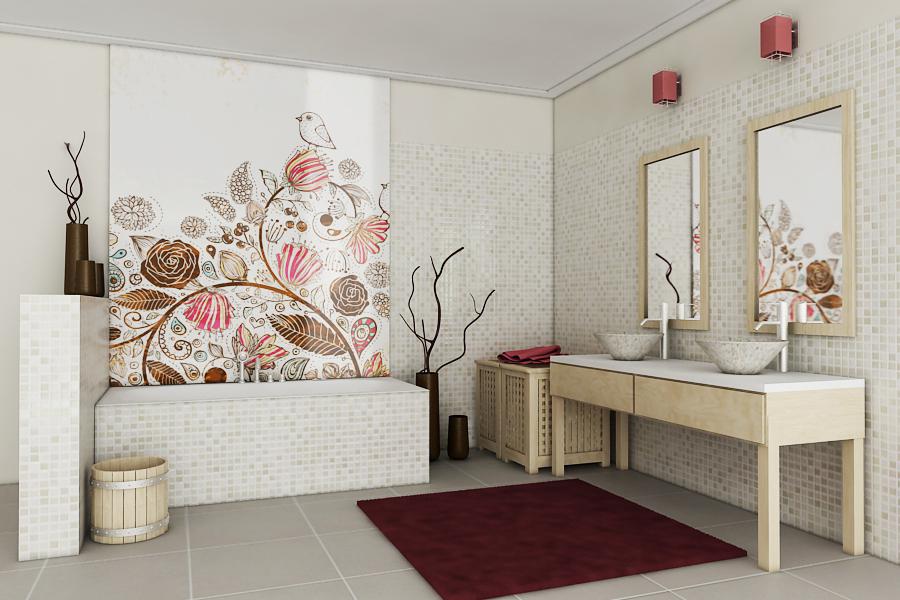 dekoracyjne szkło deKEA w łazience
