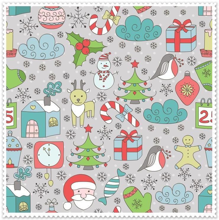Zasłony do pokoju dziecięcego - Święta