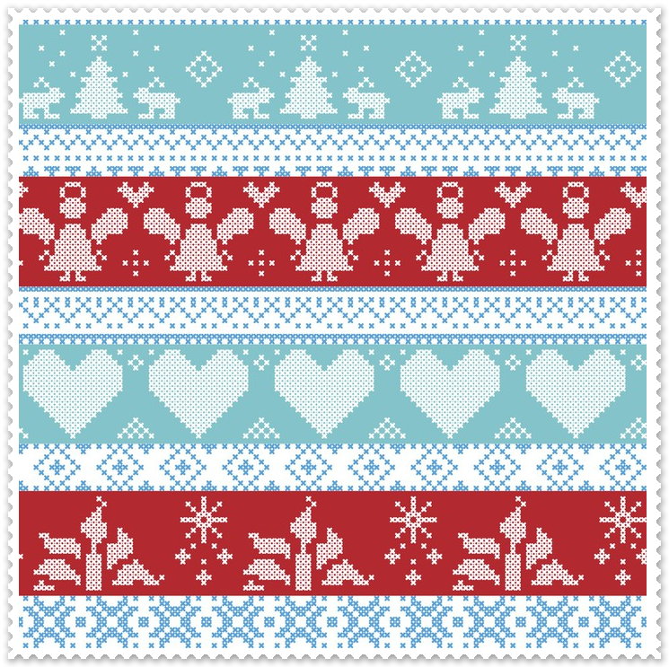 Zasłony, tkaniny na Boże Narodzenie