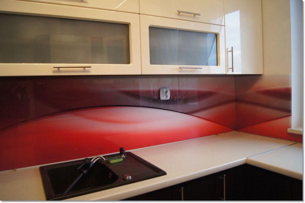 Szkło dekoracyjne - czerwone