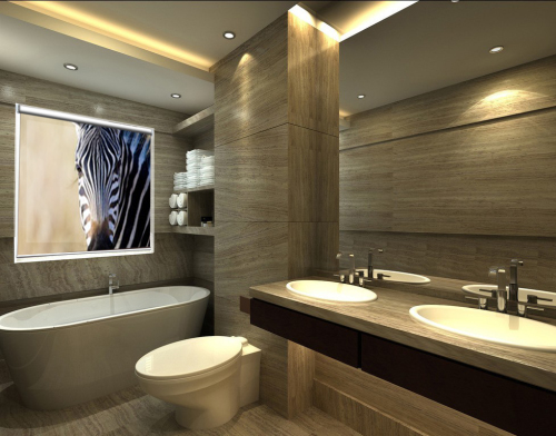 Piękne fotorolety do łazienki