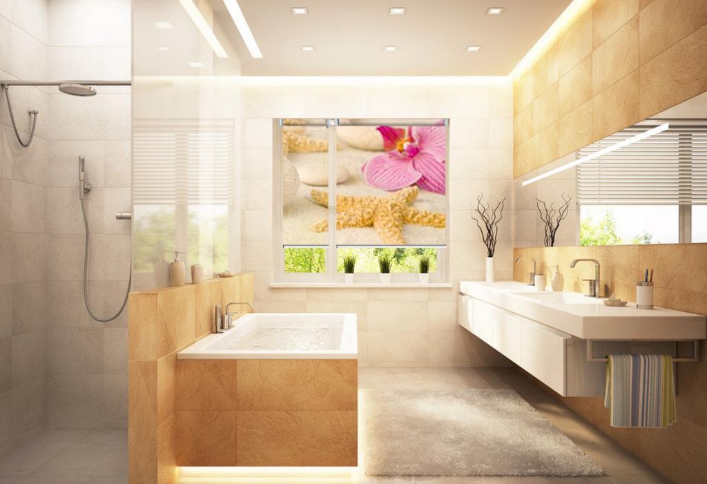 Fotorolety okienne do łazienki