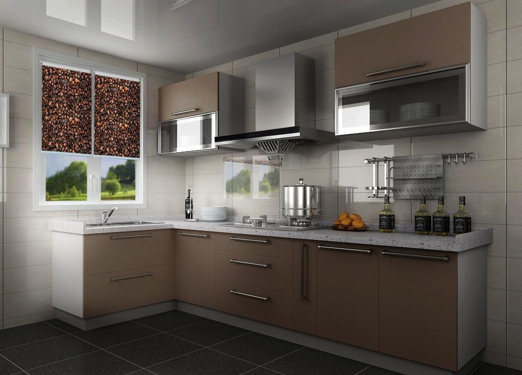 Rolety okienne ze zdjęciem do kuchni