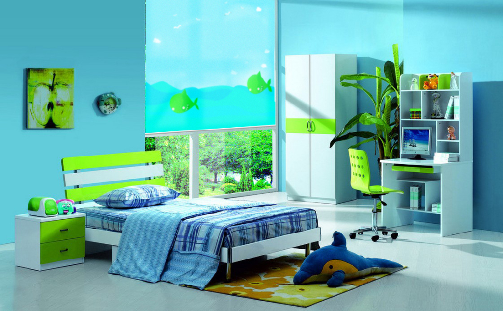 Dekoracja okna  w pokoju dziecka