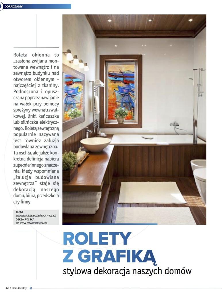 Rolety okienne z grafika - deKEA