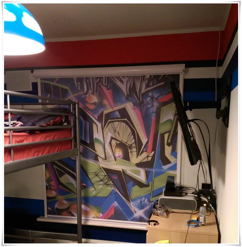 Roleta graffiti deKEA