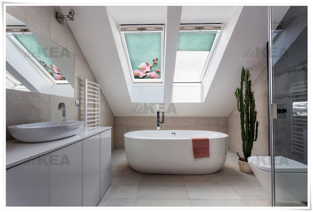 Rolety dachowe deKEA - Fakro do łazienki