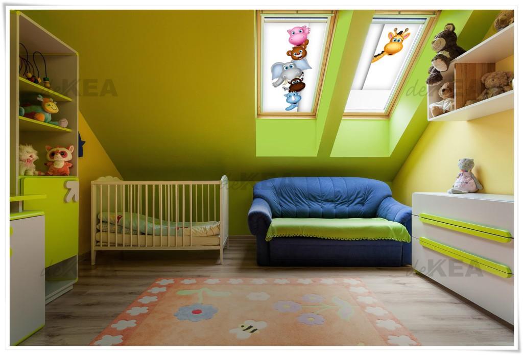 Rolety dachowe do pokoju dziecięcego