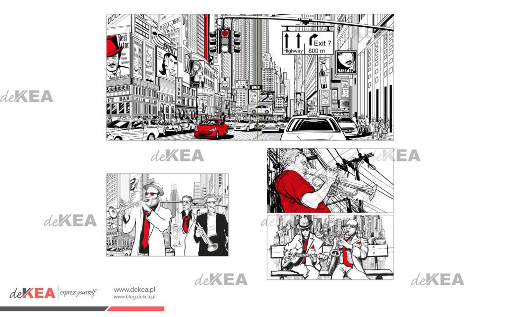 Wybrane grafiki z przenaczeniem na dekoracje ścian restauracji