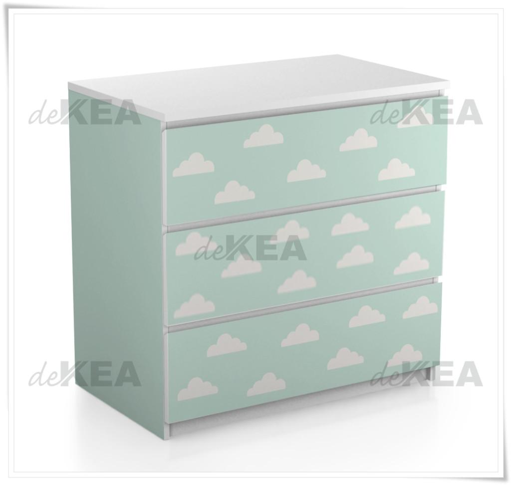 naklejki na meble deKEA na Malm Ikea