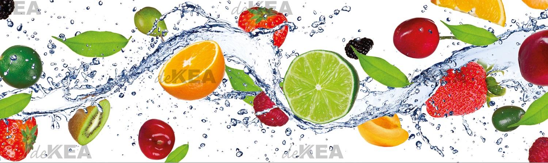 panele szklane deKEA z owocami