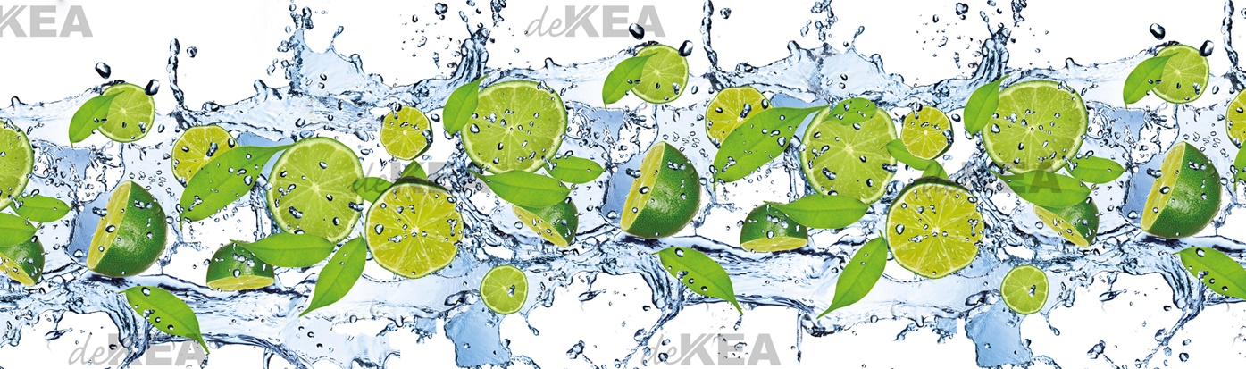 Panel szklany deKEA_limonki zielone