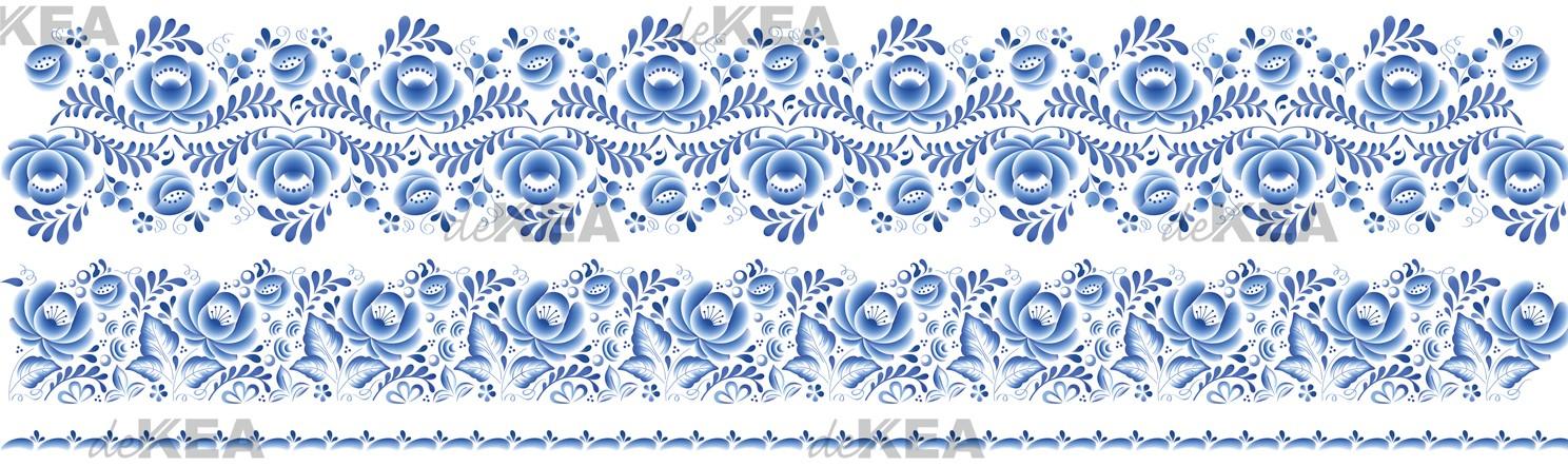 Panele szklane deKEA niebieska porcelana
