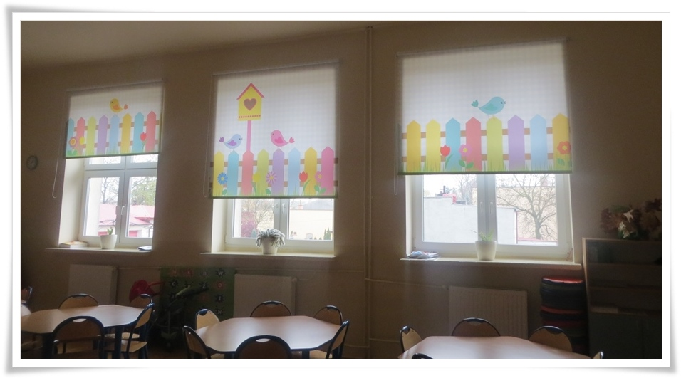 Rolety okienne do przedszkola