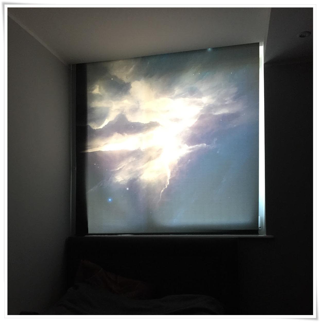 Roleta okienna z motywem nieba