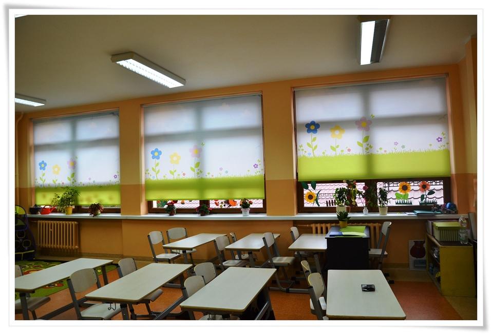 rolety okienne do szkoły