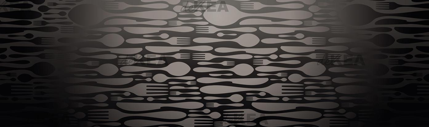 szkło do kuchni_ czarne sztućce