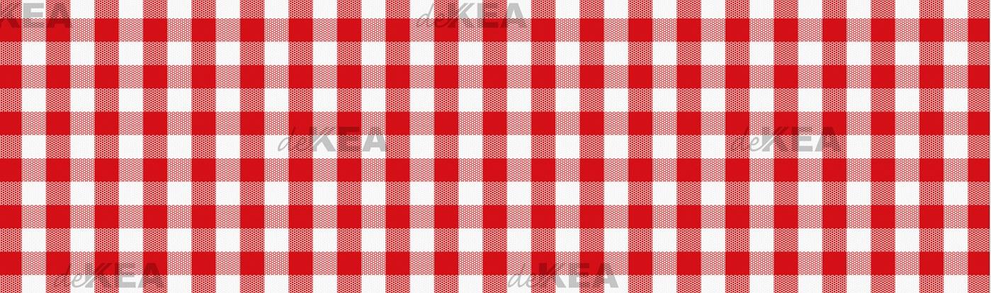 Szkło do kuchni deKEA_ czerwona krata