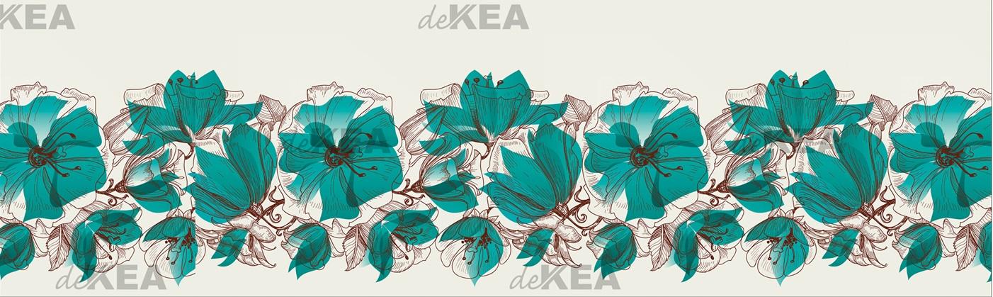 panele szklane Dekea z motywem kwiatów