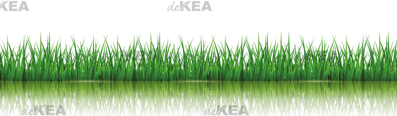 panele szklane deKEA z motywem trawy