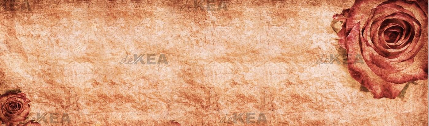 panel szklany deKEA_vintage_róża