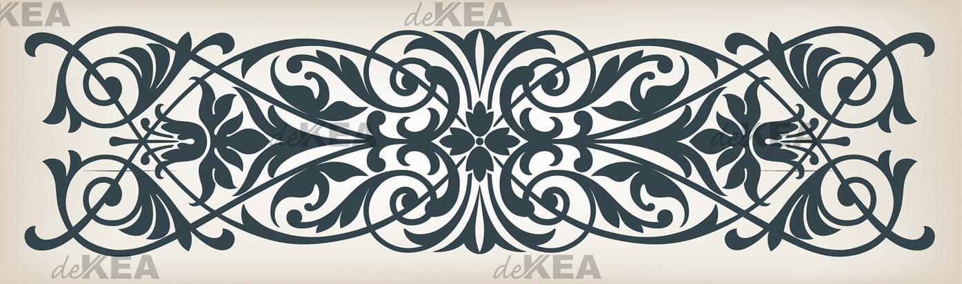 panele szklane dekea_niebieski vintage