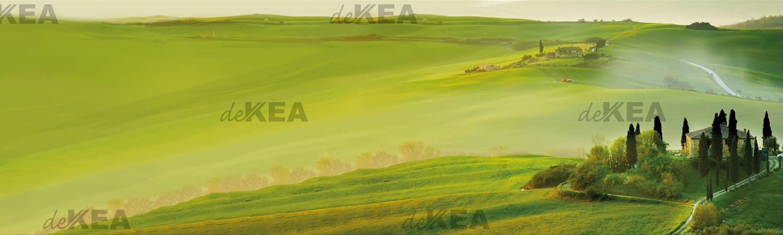 panele szklane deKEA_zielony pejzaż