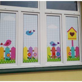 Folie na okna, na szyby do przedszkola, firmy