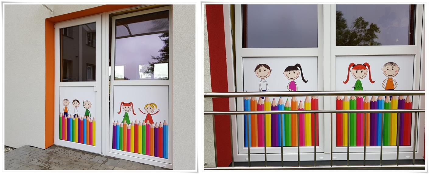 Folia na szyby, folia okienne przedszkole