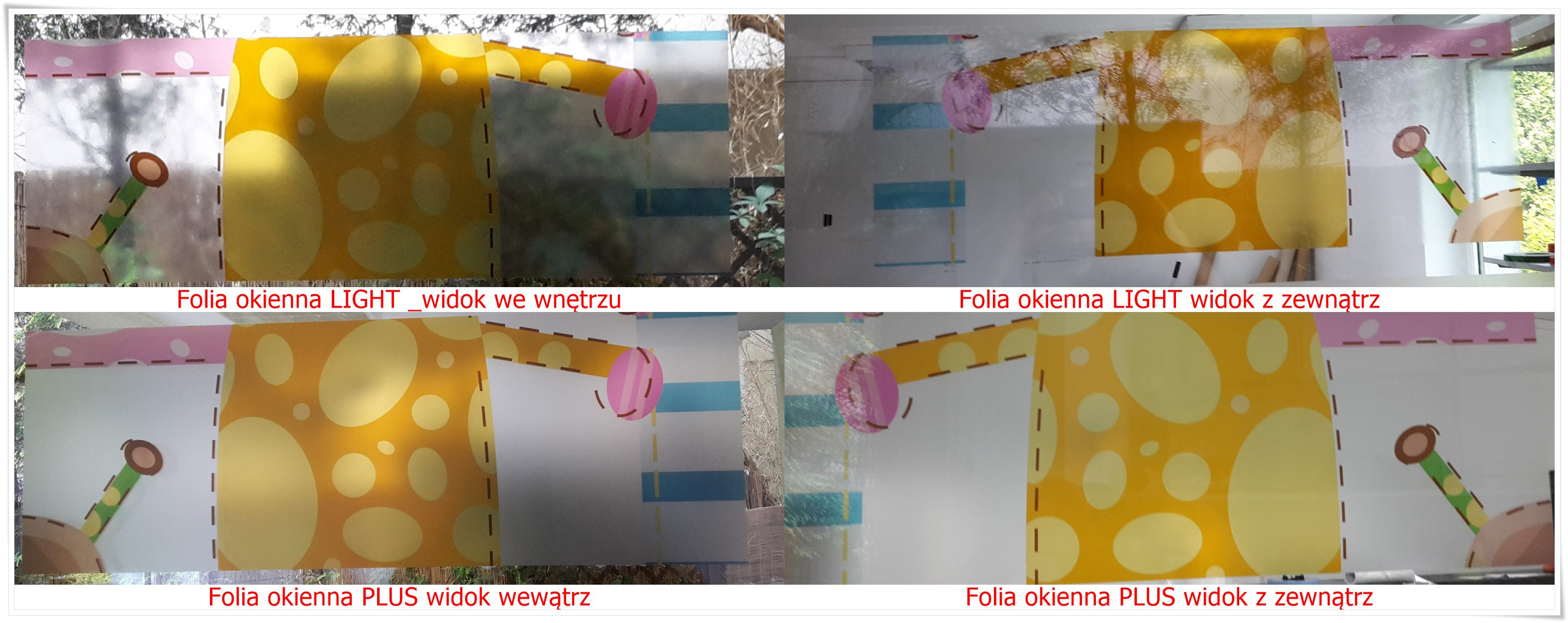 Folia na szyby transparentna